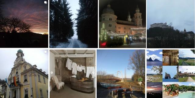 Collage Instagram-Fotos Dezember 2019