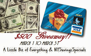 money Blogger Opp: $500 Visa Gift Card Giveaway