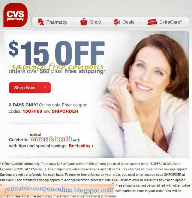 printable coupons 2018  cvs pharmacy coupons
