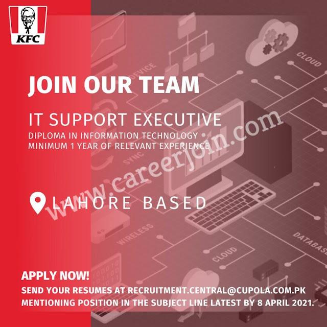 KFC Pakistan Jobs April 2021