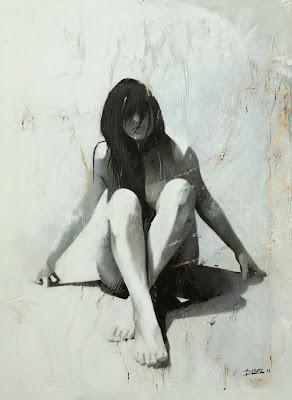 Mujer en Reposo. Tecnica mixta al oleo sobre lienzo. 150cm x 110cm
