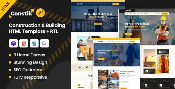 Best Construction & Building Company HTML Template