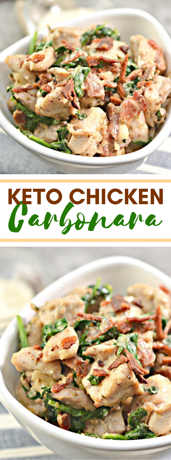 CHICKEN CARBONARA RECIPE – KETO, LOW CARB, GLUTEN-FREE #healthy #diet