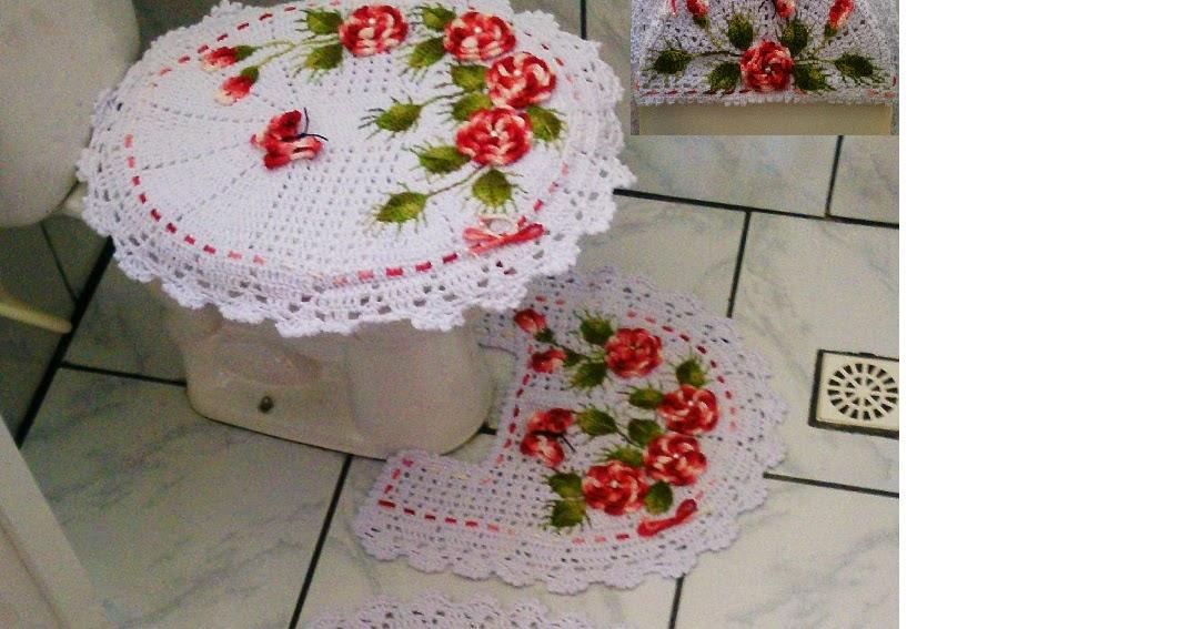 jardim de rosas vermelhas:Edimara Comim : Jogo de banheiro jardim de rosas com flores vermelhas