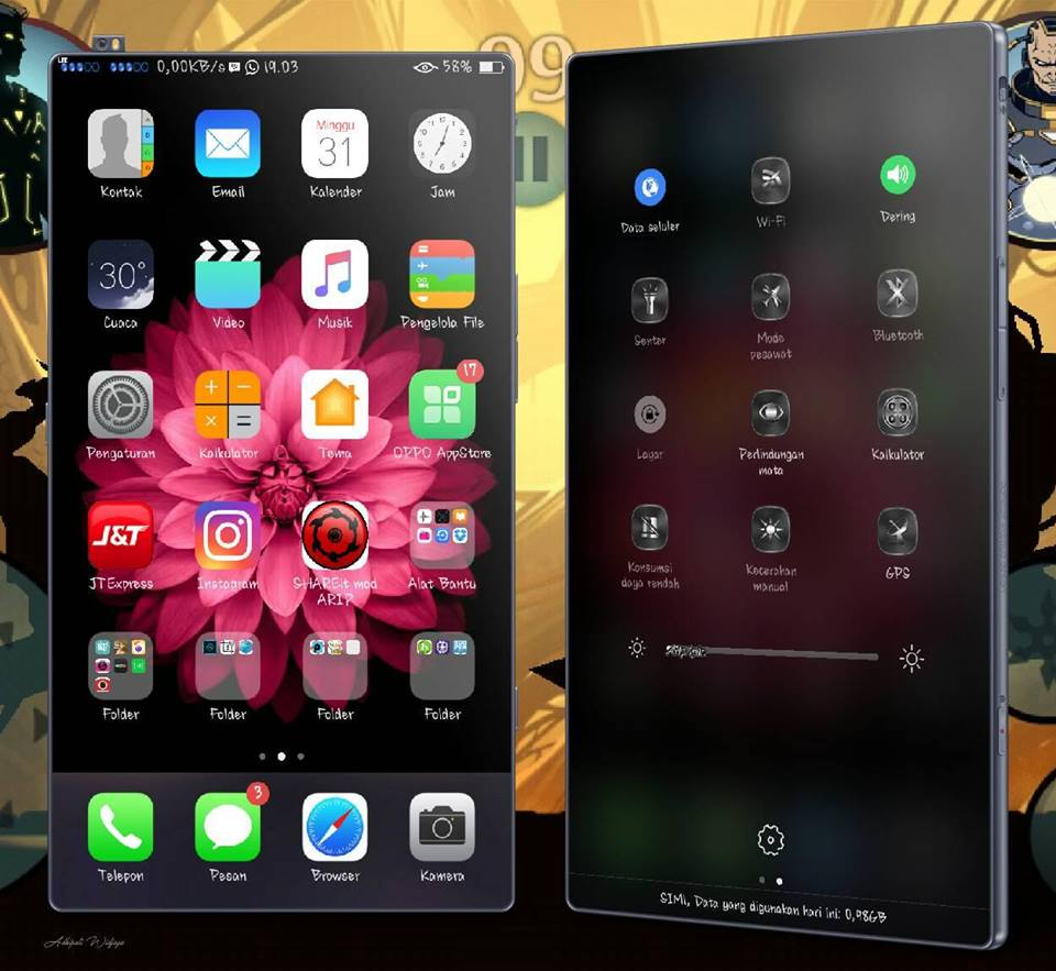 Kumpulan Tema ColorOS dan iOS OPPO A37 beserta Screenshot