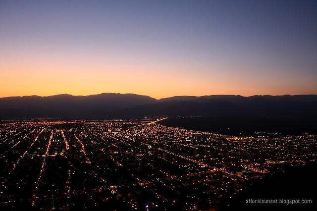 Argentina Salta by night sunset