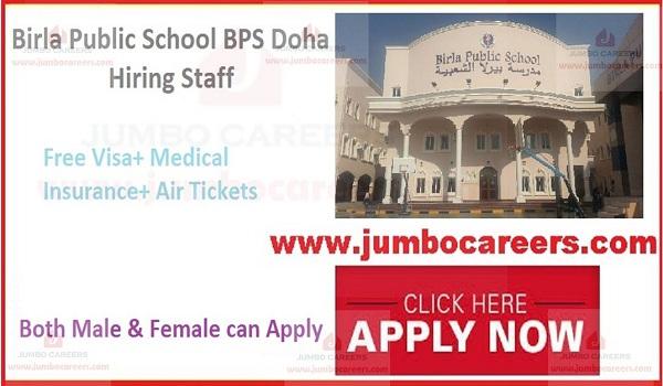 Birla Public School BPS Doha Jobs and Careers 2020