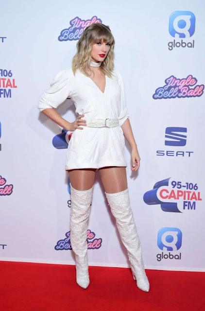 Taylor Swift At Capital's Jingle Bell Ball 2019 in London Dec-2019