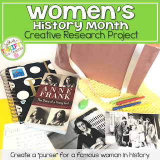 March is Women's History Month and a great opportunity for elementary students to participate in research activities that hightlight remarkable female leaders. This activity offers students a creative way of sharing information they have learned and synthesized with their peers.