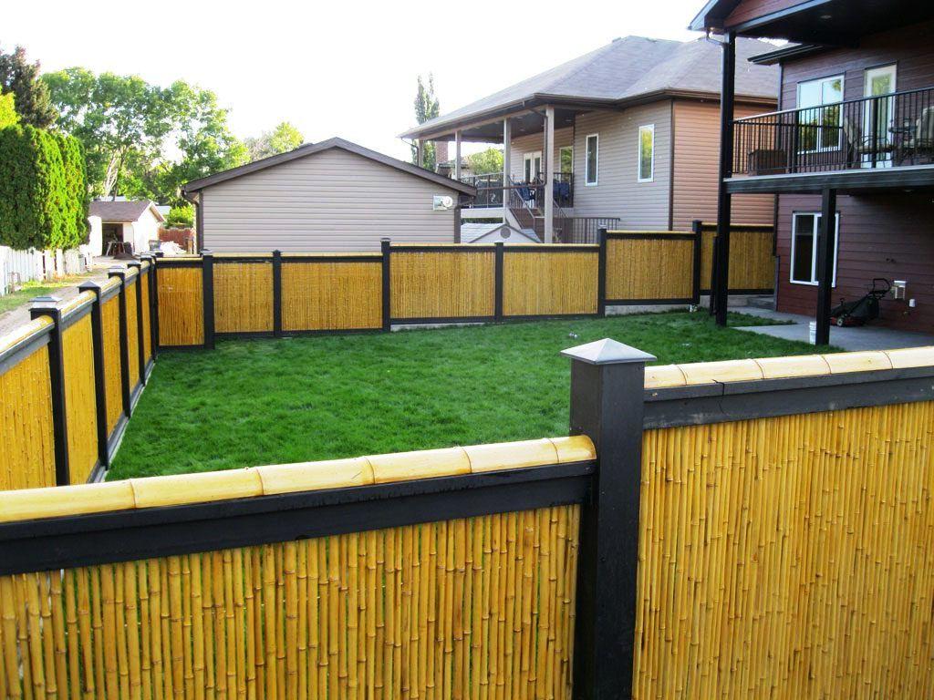 Gambar Desain Pagar Bambu Taman