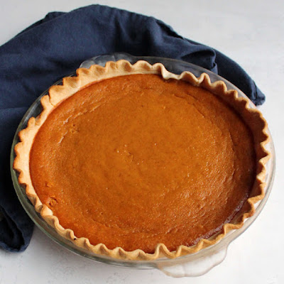 whole pumpkin pie made with sweetened condensed milk