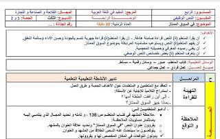 جذاذات الأسبوع الثالث من الوحدة الرابعة لمرجع المفيد في اللغة العربية المستوى الرابع ابتدائي