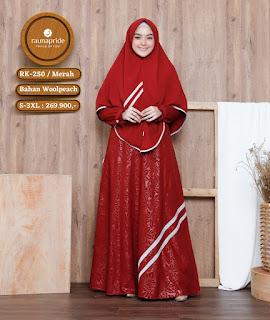 Koleksi Gamis Muslimah Rauna Terbaru RK 250