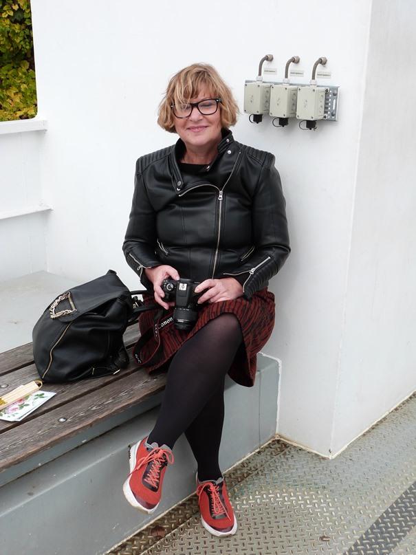 50plus-bloggerin-auf-der-fähre-zur-pfaueninsel