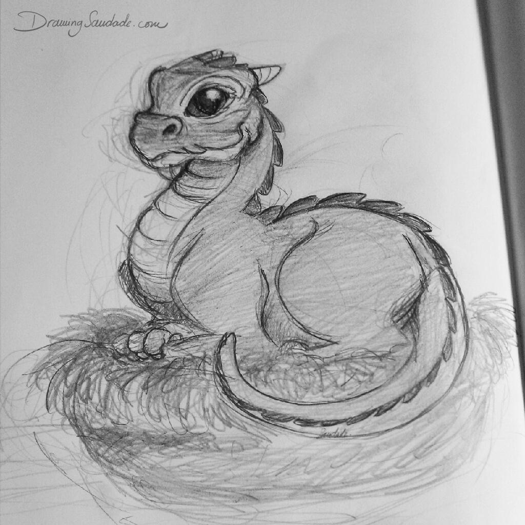 Drawing Saudade Doodle 020  Dragon To Good Home