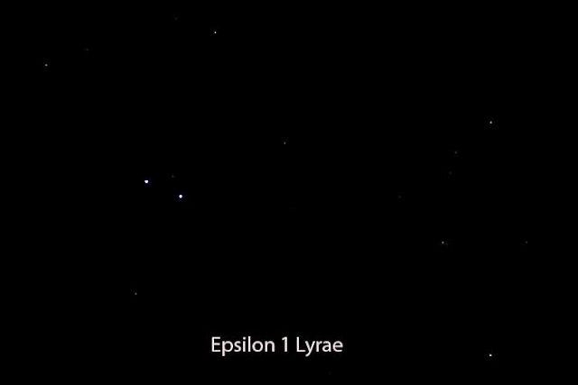Double star Epsilon 1 Lyrae with small telescope (Source: Palmia Observatory)