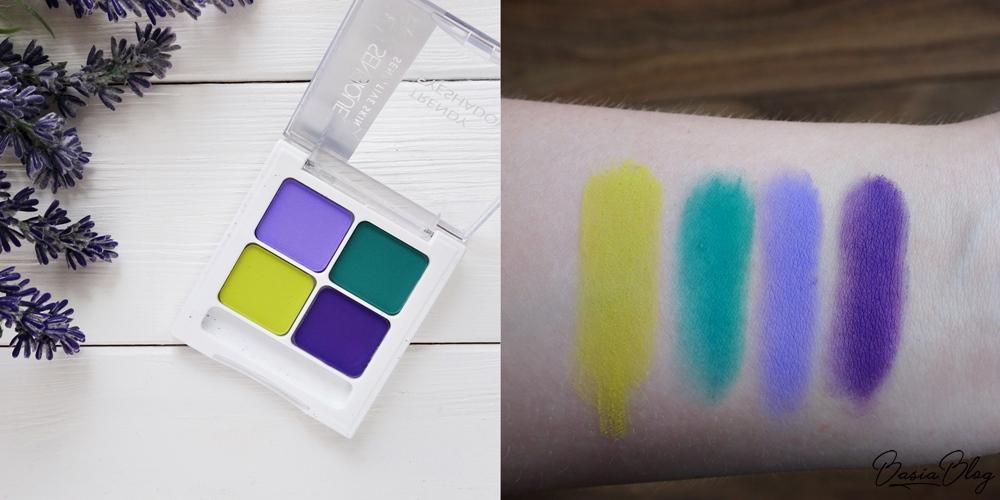 paleta cieni Sensique Trendy Eyeshadows 118 Turquoise Lagoon swatch