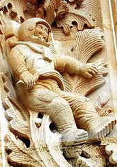 Astronauta Escupildo na catedral