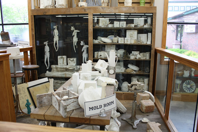 Molds for pottery at the Pottery Museum of Red Wing