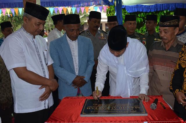 Tutup Kegiatan Safari Ramadhan, Plt Bupati Trenggalek Resmikan Masjid di Gemaharjo