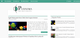 Purnima Blogger Template
