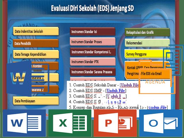 Instrument  dan Aplikasi EDS Lengkap SD SMP Format Excel