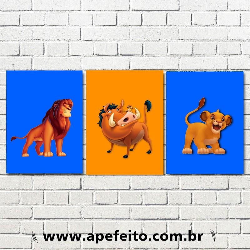 Quadro Decorativo Rei Leão - DAY