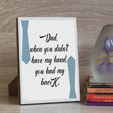 Tabletop Father's Day Gift Plaque in Port Harcourt, Nigeria