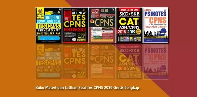 Buku Materi dan Latihan Soal Tes CPNS 2019 Gratis Lengkap