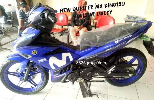 New Jupiter MX King 150 Livery Movistar Terbaru