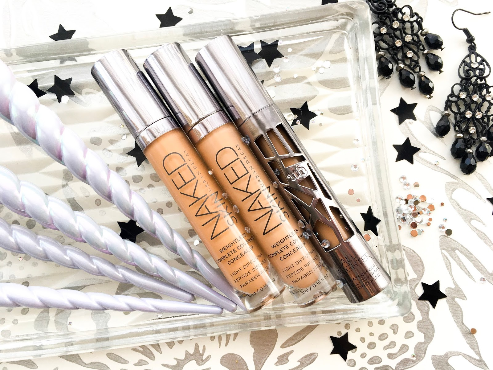 Urban Decay All Nighter Concealer vs Naked Skin Concealer, which urban decay concealer is best for under eye area, urban decay all nighter vs naked skin, urban decay med dark warm, urban decay medium neutral