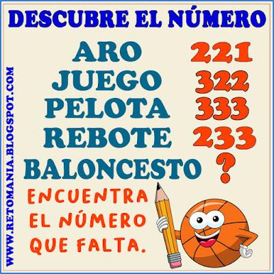Retos matemáticos, Desafíos matemáticos, Retos mentales, Retos visuales, Problemas matemáticos, Problemas de lógica, Matemática y Deportes,  Descubre el número, Descubre el resultado, El número que falta