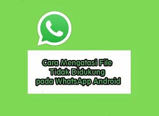 Cara Mengatasi Format File Tidak Didukung pada WhatsApp