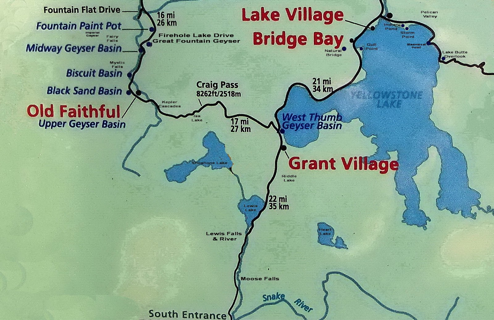 Focusing On Travel : Yellowstone: West Thumb Geyser Basin ... on map of grand prismatic spring, map of yellowstone geysers, map of mud volcano, map of firehole canyon drive, map of mystic falls, map of yellowstone national park, map of old faithful area, map of yellowstone river,