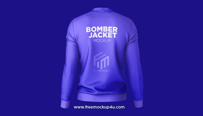 Bomber Jacket Back View Mockup Psd