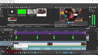 demonstração de uma edição de um vídeo para o canal de música lofi