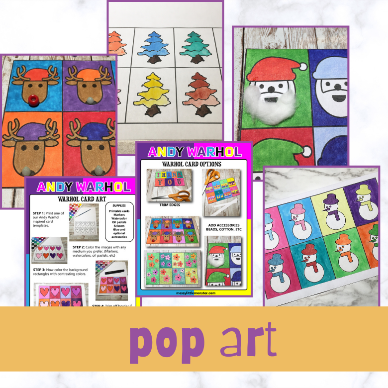 pop art for kids printables