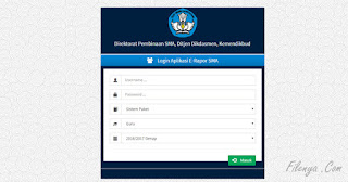 Aplikasi ERAPOR SMA V.2017 Beserta Panduannya