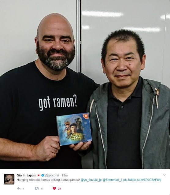 Gio Corsi (Sony) with Yu Suzuki (YS Net)