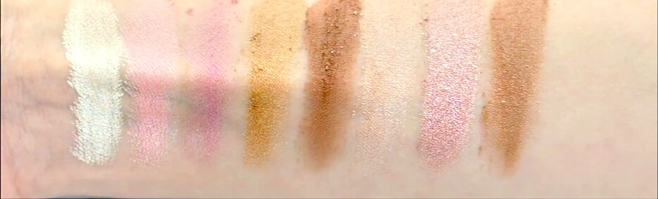 Swatches of FREEDOM - PRO BLUSH & HIGHLIGHT - BRONZE & BAKED