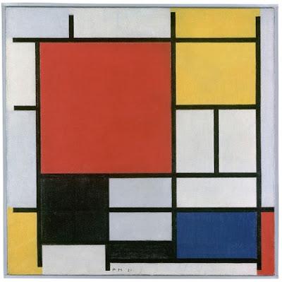 Piet Mondrian, Composition en rouge, jaune, bleu et noir, 1921