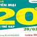 Khuyến mãi Viettel tặng 20% giá trị thẻ nạp 20/03/2020