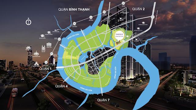 vị trí của dự án Paris Hoàng Kim