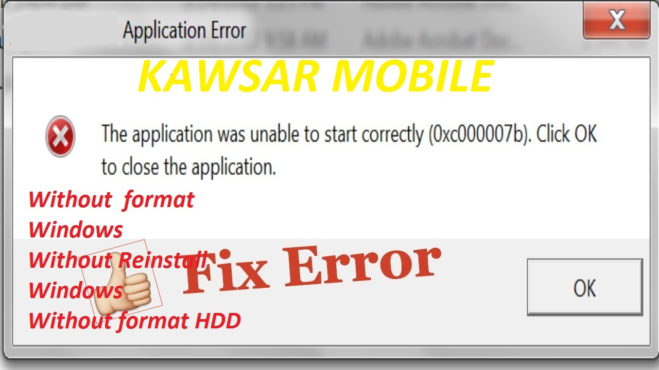 The application was unable to start correctly (0xc0000005) and