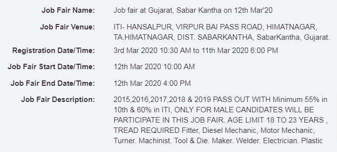 Job fair at Gujarat