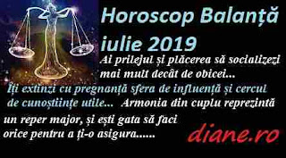 Horoscop iulie 2019 Balanță