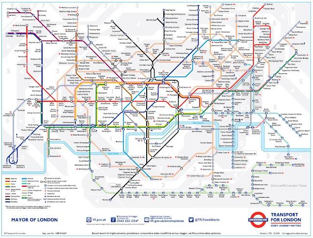 Mappa della metropolitana di Londra