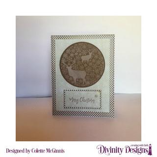 Stamp/Die Duos: Deer Ornament   Custom Dies: Pierced Rectangles  Paper Collection: Ephemera Essentials