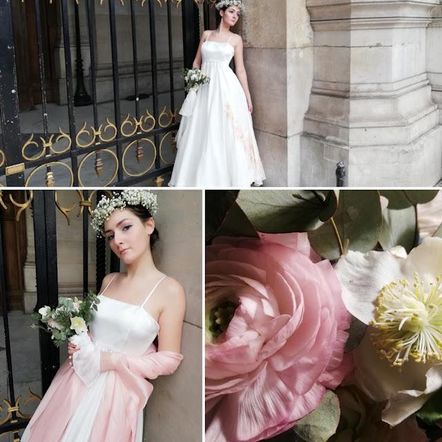 réalisation robe : Atelier Ermance, motifs peints : Atelier D'Ors et de Soie
