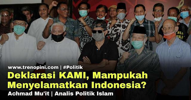Sejumlah Tokoh Nasional mencanangkan Deklarasi Koalisi Aksi Menyelamatkan Indonesia atau KAMI. Deklarasi digelar di bilangan Fatmawati, Jakarta Selatan siang ini, Minggu (2/8/2020).